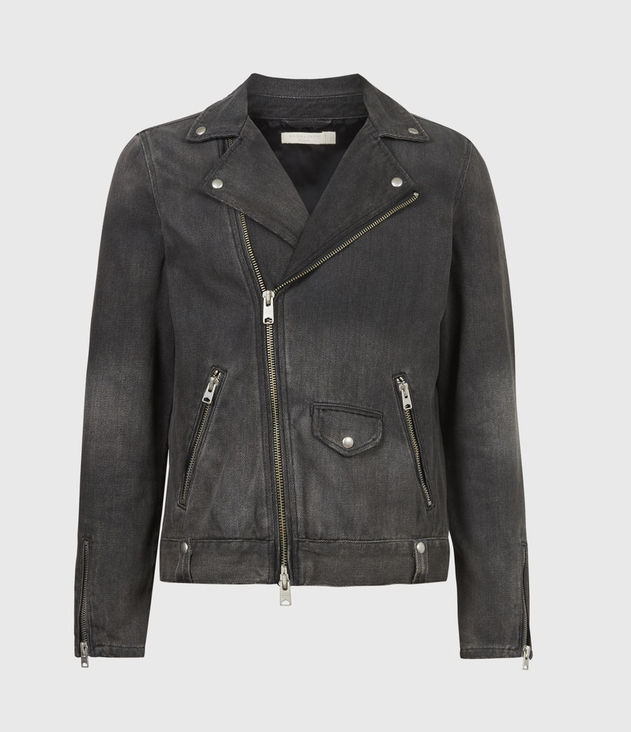 Men's Burgess Denim Jacket (washed_black) - Image 2