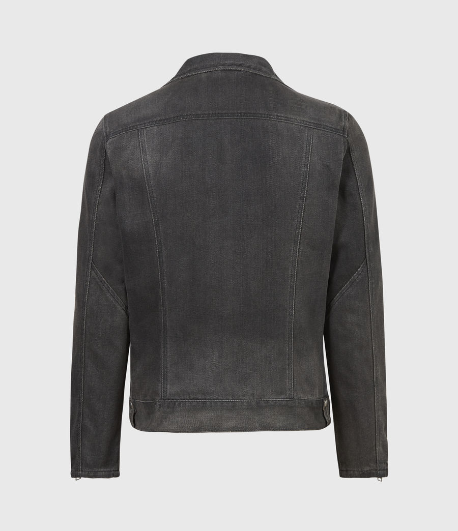 Men's Burgess Denim Jacket (washed_black) - Image 3
