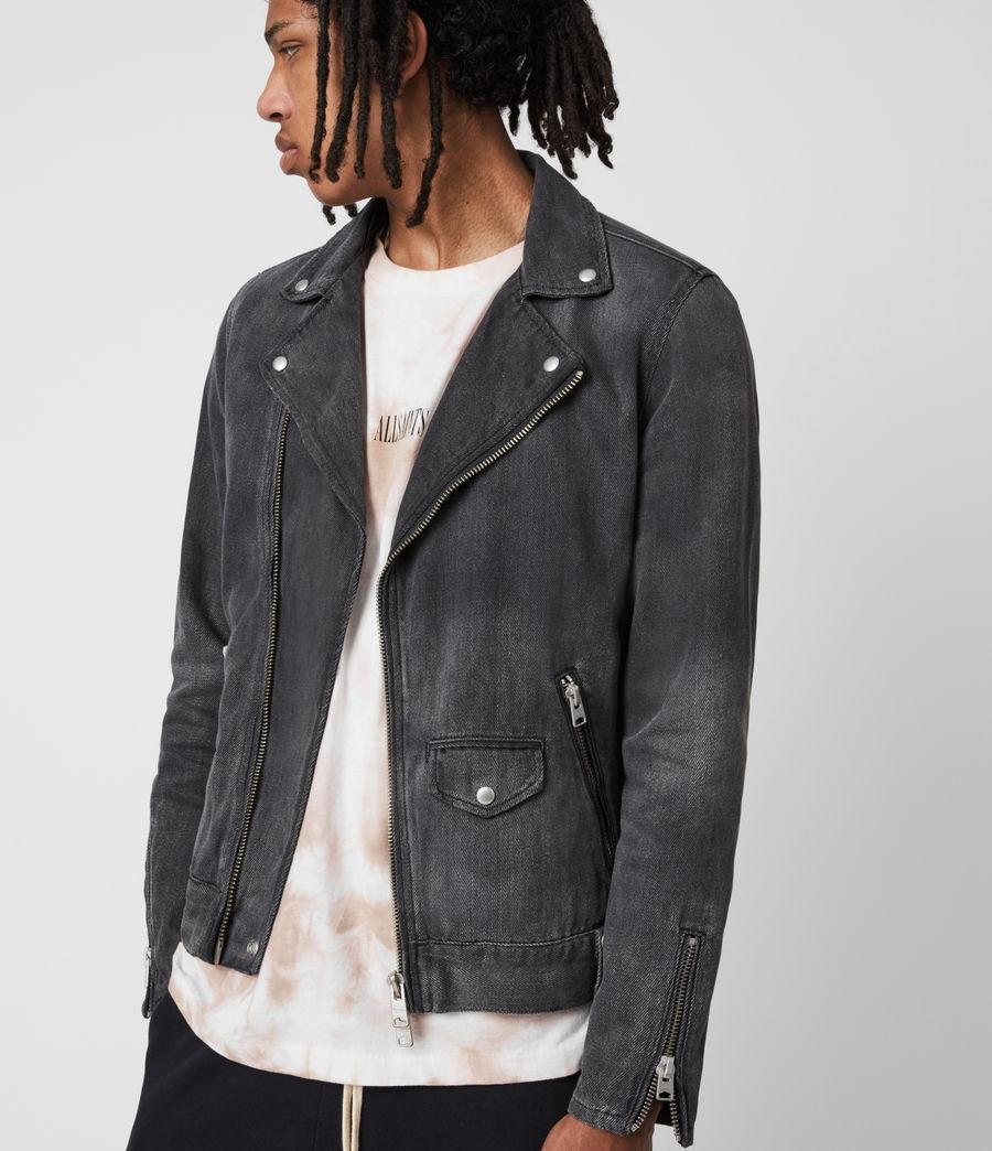 Men's Burgess Denim Jacket (washed_black) - Image 4