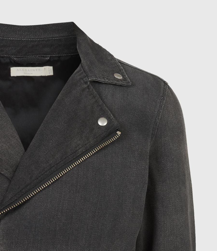 Men's Burgess Denim Jacket (washed_black) - Image 5