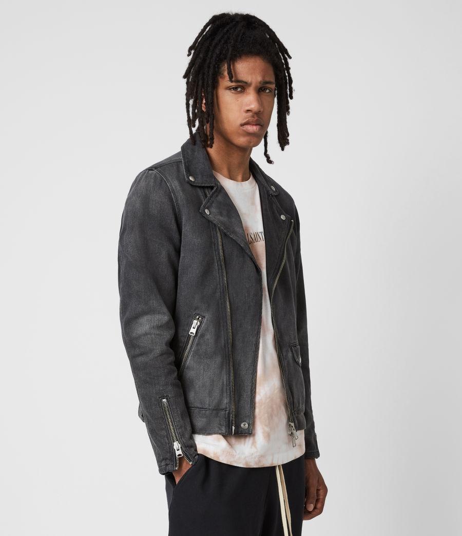Men's Burgess Denim Jacket (washed_black) - Image 7