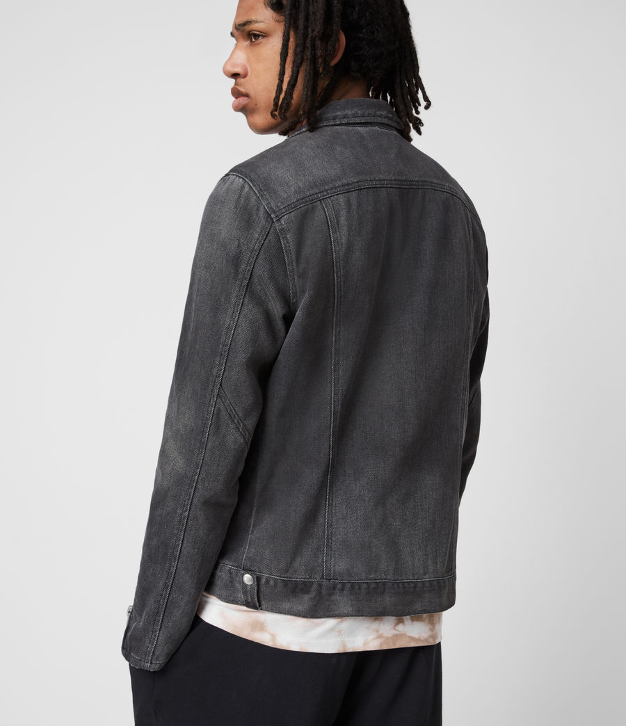 Men's Burgess Denim Jacket (washed_black) - Image 8