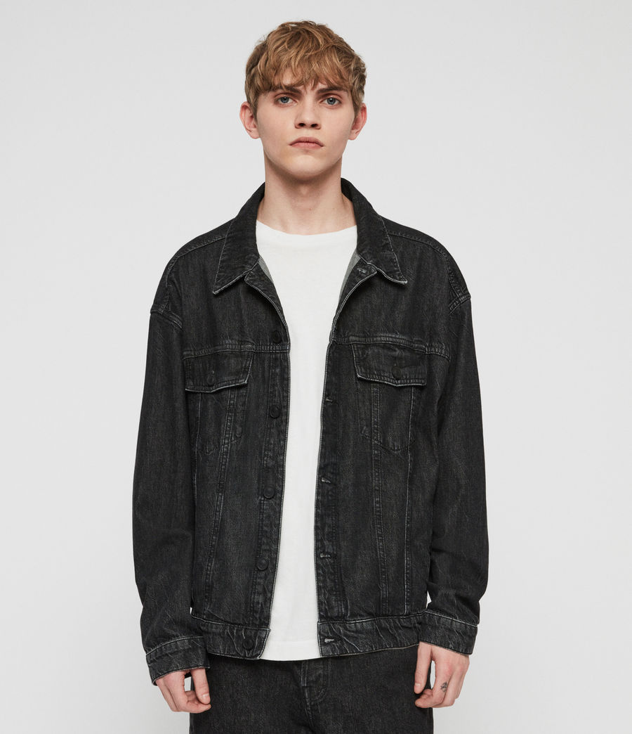 Mens Dipper Denim Jacket (washed_black) - Image 1