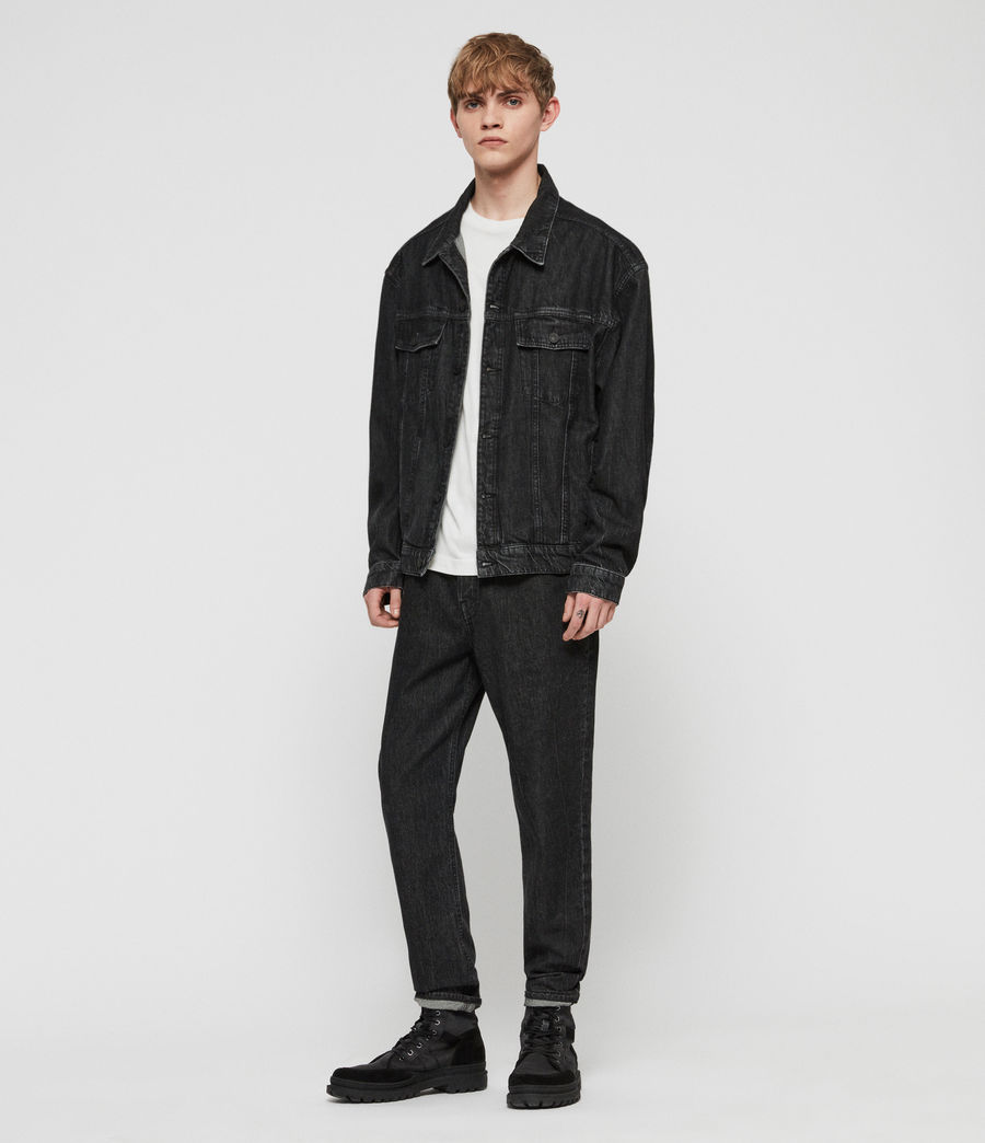 Mens Dipper Denim Jacket (washed_black) - Image 2
