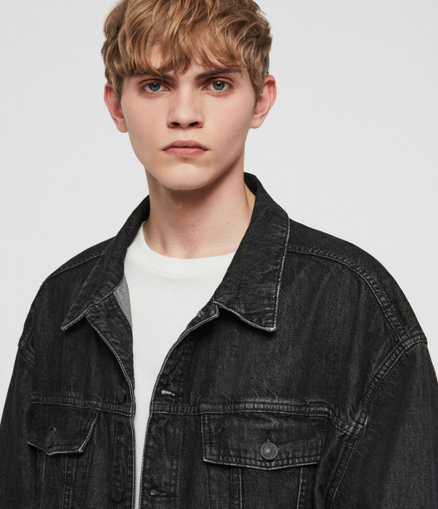 Mens Dipper Denim Jacket (washed_black) - Image 3