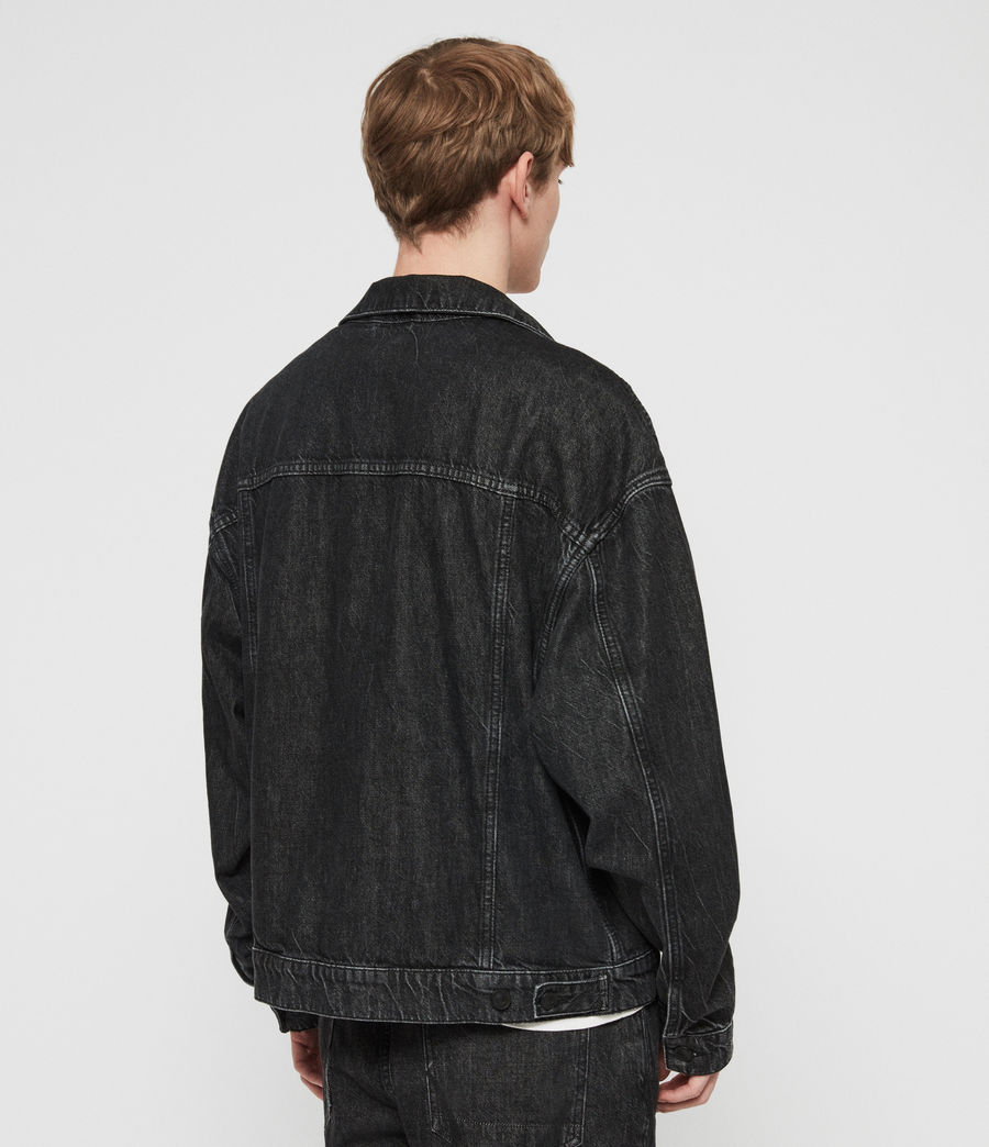 Mens Dipper Denim Jacket (washed_black) - Image 4