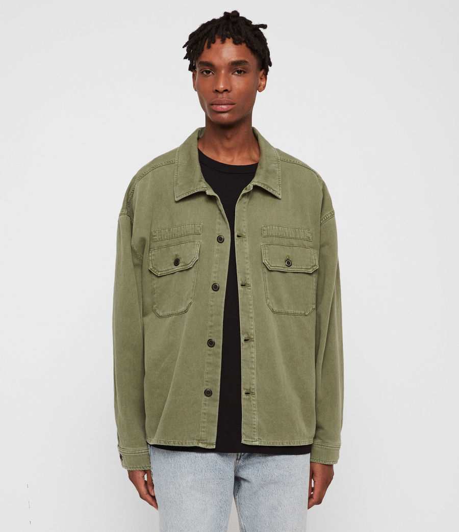 Mens Korten Denim Jacket (khaki_green) - Image 1