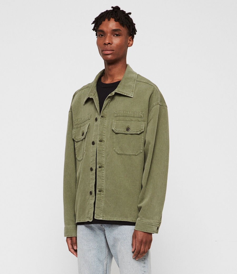 Mens Korten Denim Jacket (khaki_green) - Image 3