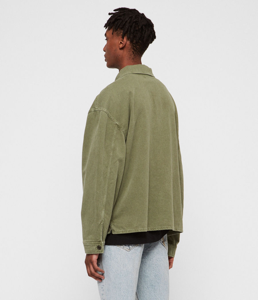 Mens Korten Denim Jacket (khaki_green) - Image 4
