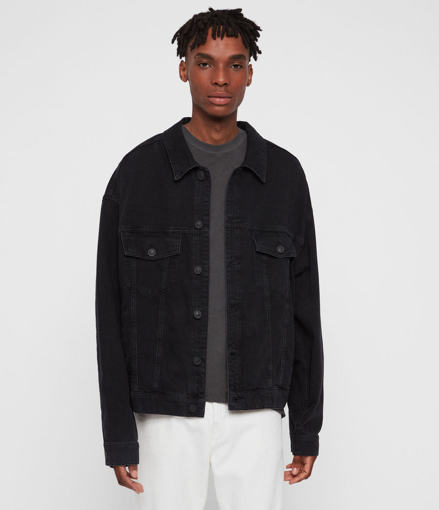 Mens Borten Denim Jacket (washed_black) - Image 1
