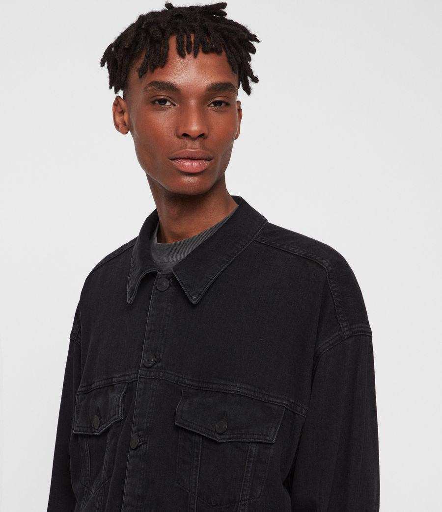 Men's Borten Denim Jacket (washed_black) - Image 2