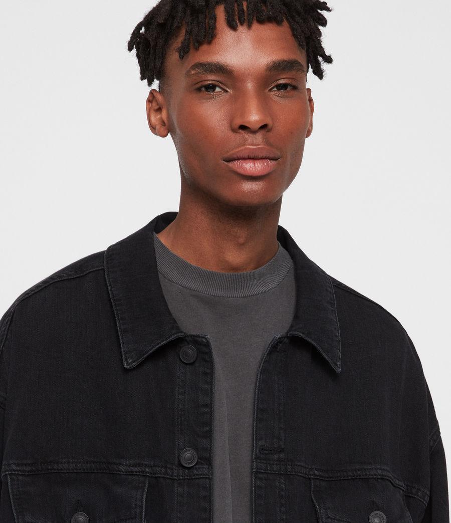 Men's Borten Denim Jacket (washed_black) - Image 4