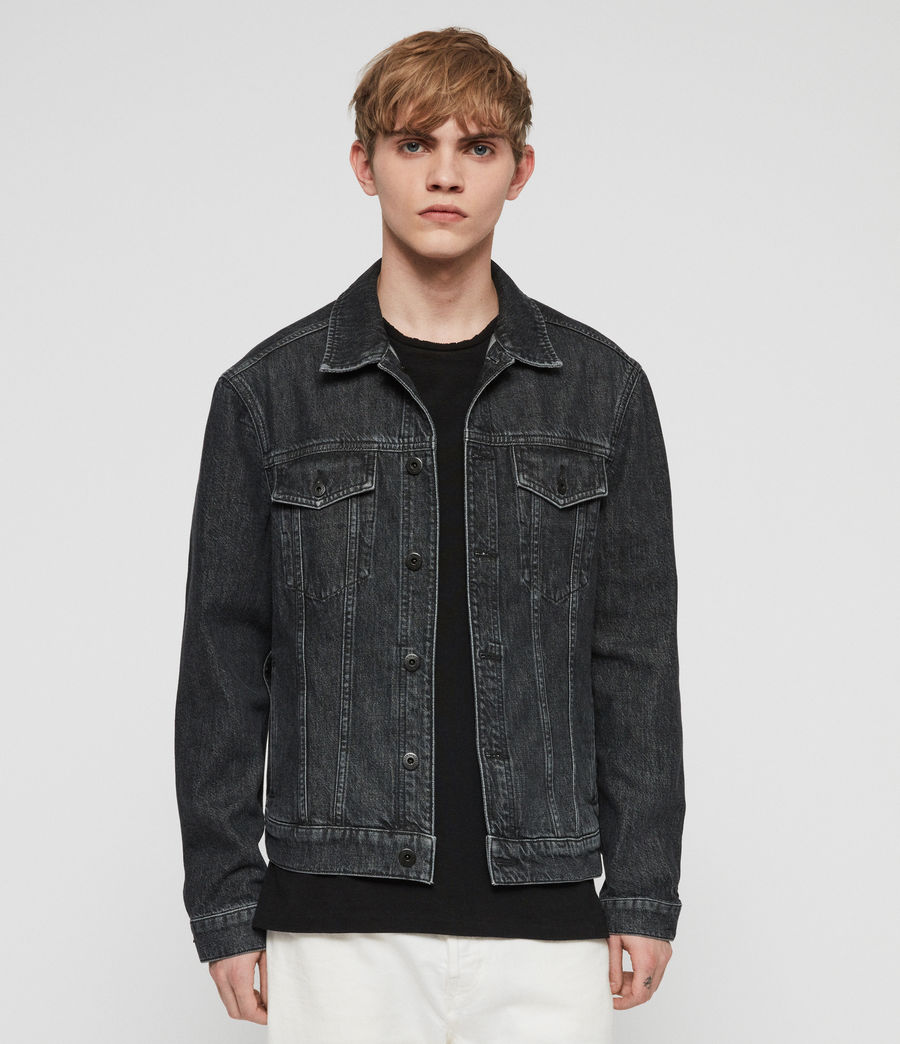 Mens Barrio Denim Jacket (black) - Image 1