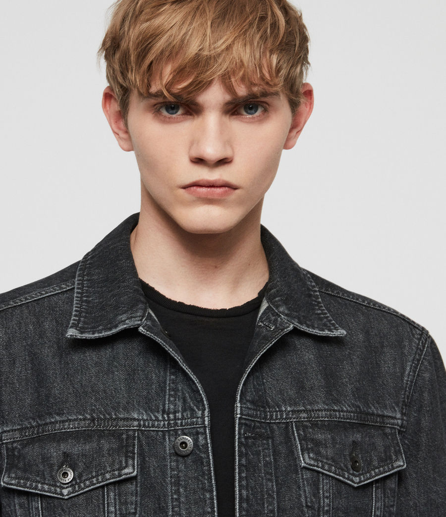 Mens Barrio Denim Jacket (black) - Image 3