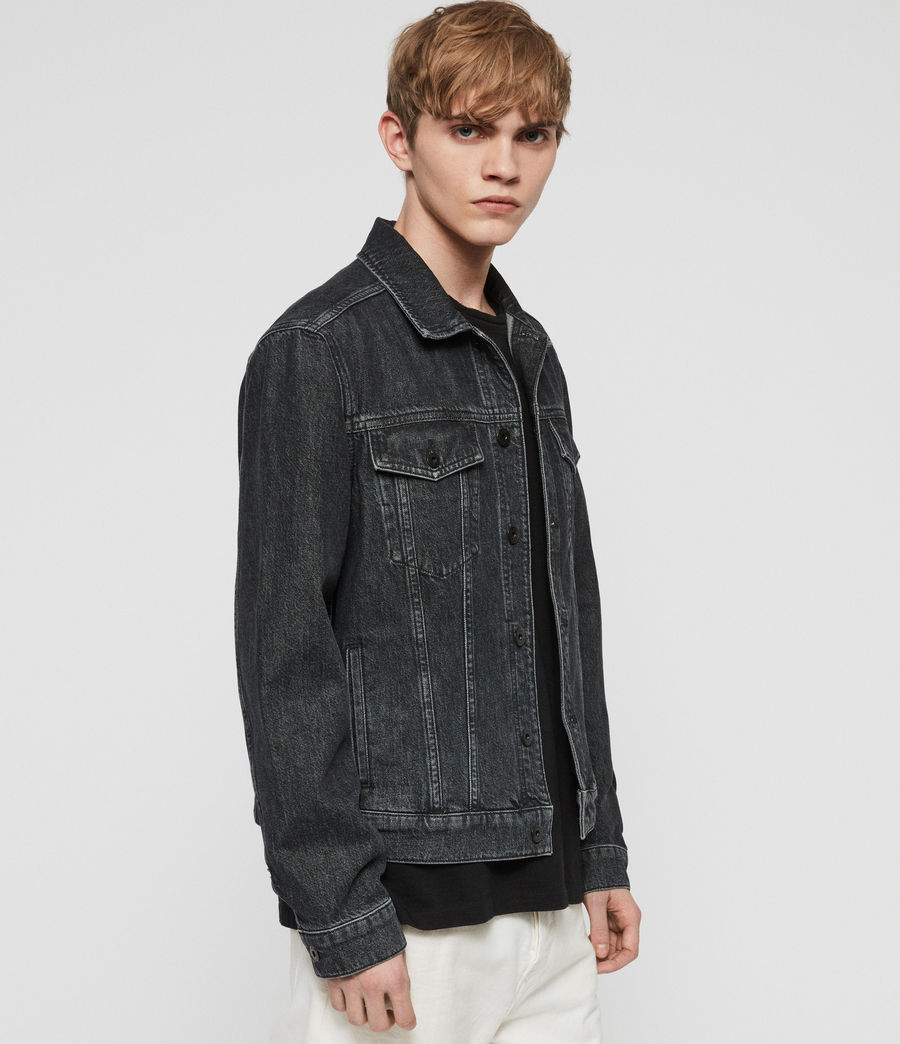 Mens Barrio Denim Jacket (black) - Image 4