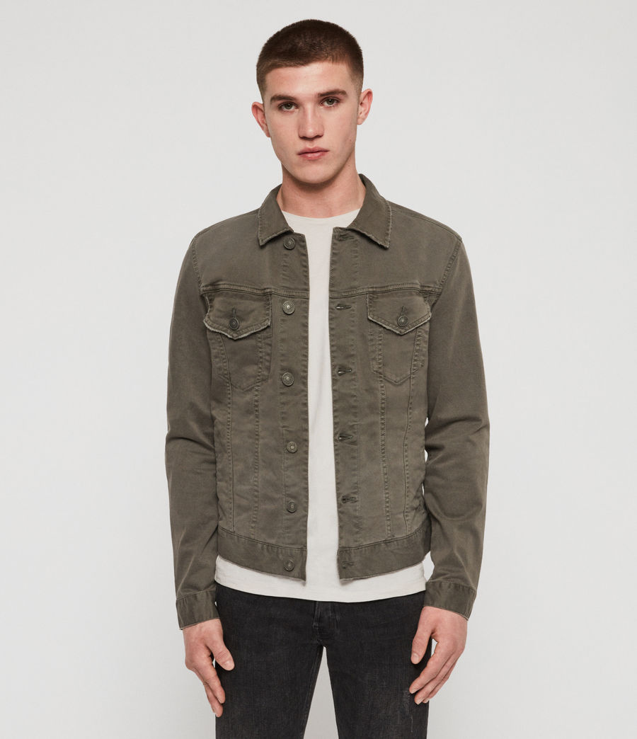 Men's Belize Denim Jacket (khaki) - Image 1