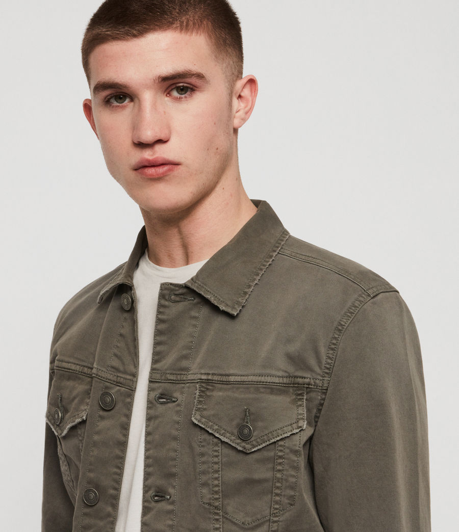 Men's Belize Denim Jacket (khaki) - Image 2