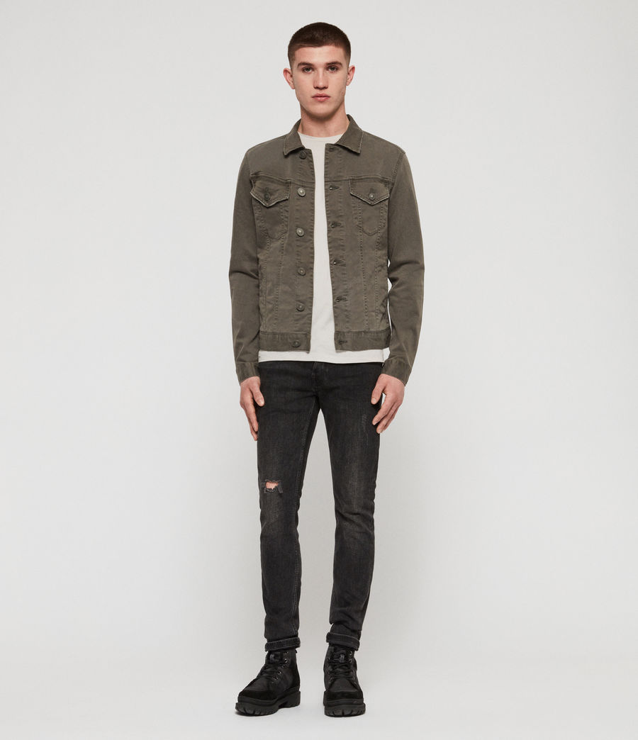 Men's Belize Denim Jacket (khaki) - Image 4