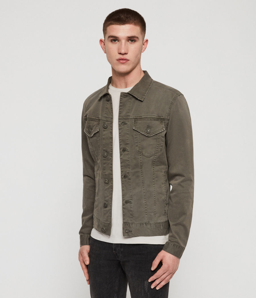Men's Belize Denim Jacket (khaki) - Image 5