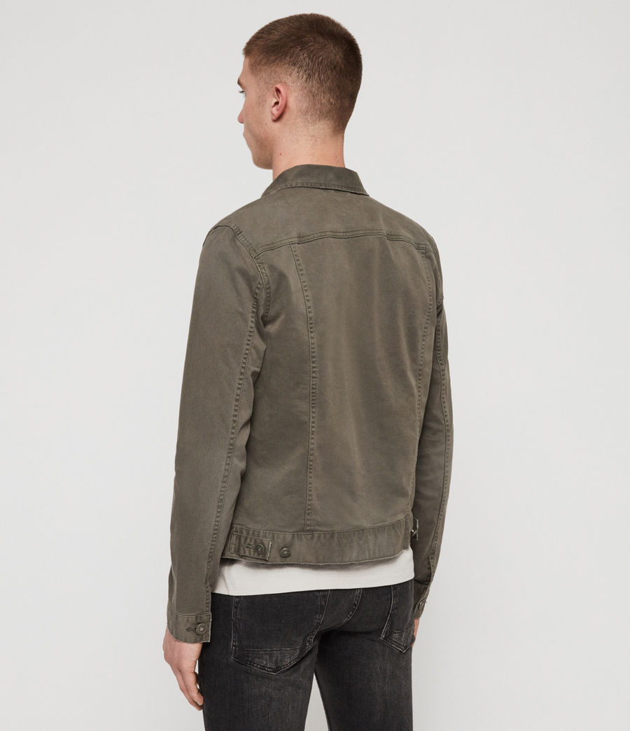Men's Belize Denim Jacket (khaki) - Image 6