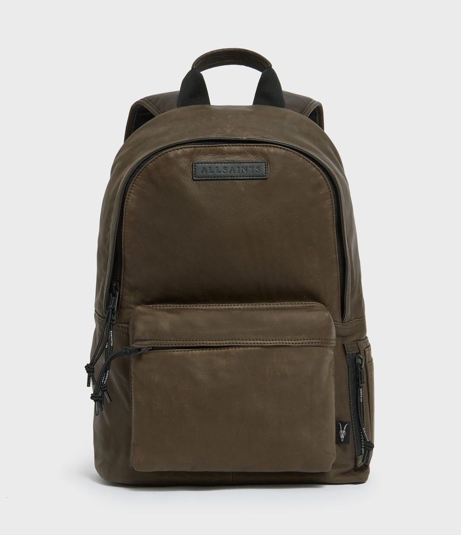 Mens Hayes Leather Rucksack (dark_khaki_green) - Image 1