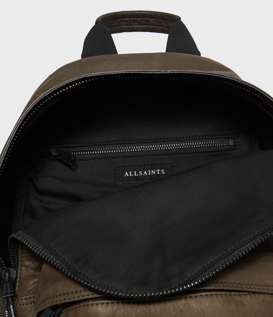 Mens Hayes Leather Rucksack (black) - Image 2