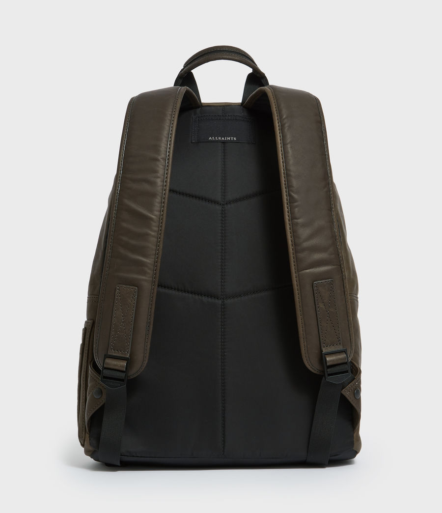 Mens Hayes Leather Rucksack (black) - Image 6