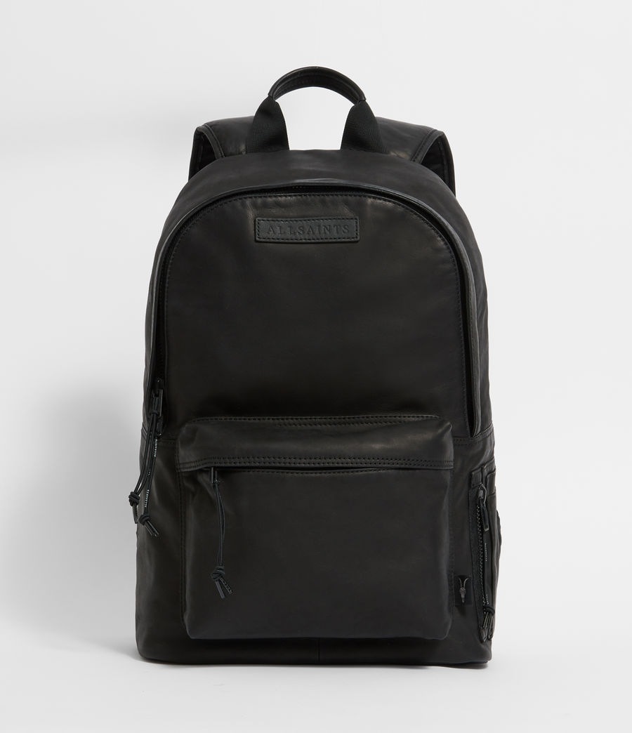 Mens Hayes Leather Rucksack (black) - Image 1