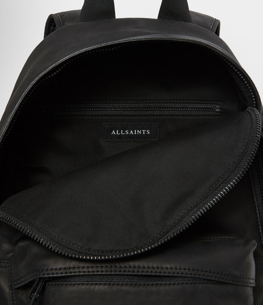 Mens Hayes Leather Rucksack (black) - Image 4