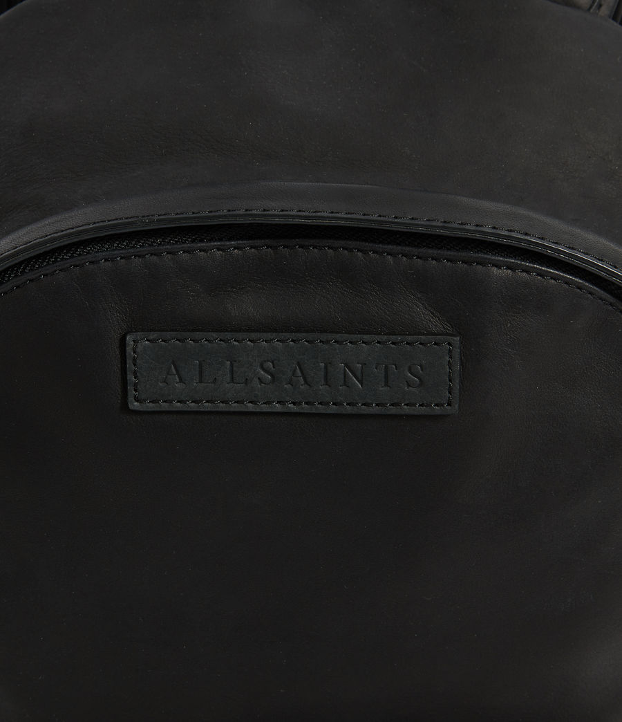 Men's Hayes Leather Rucksack (black) - Image 6