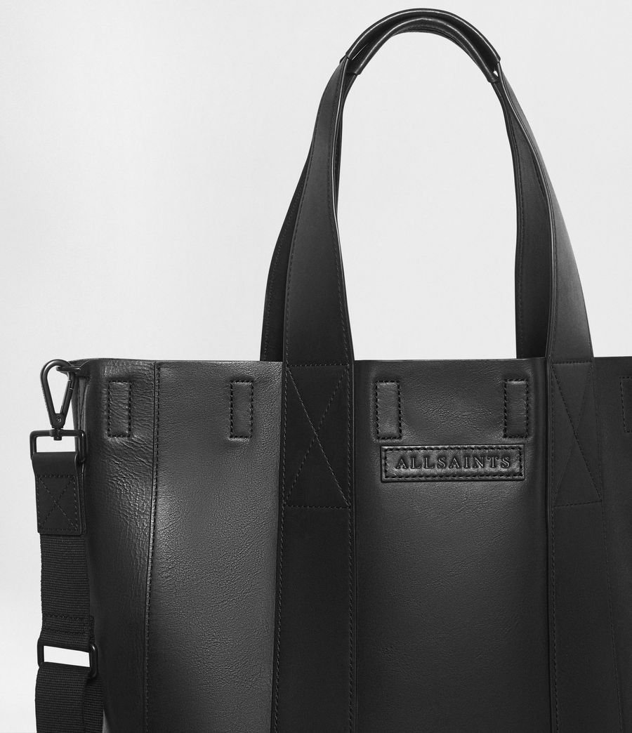 Mens Holt Leather Tote Bag (washed_black) - Image 2