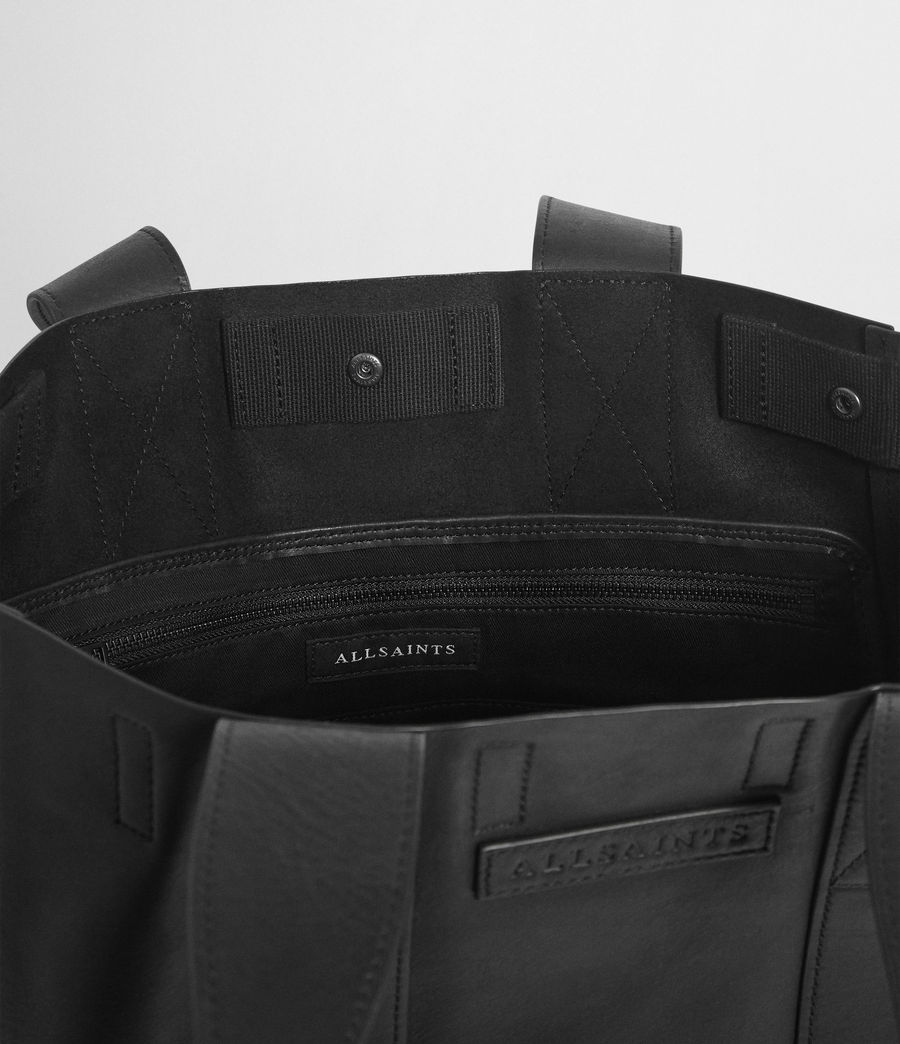 Mens Holt Leather Tote Bag (washed_black) - Image 3