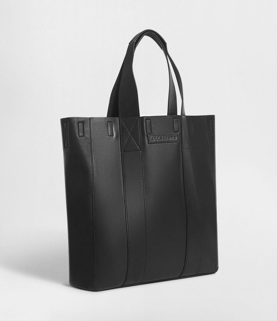 Mens Holt Leather Tote Bag (washed_black) - Image 6