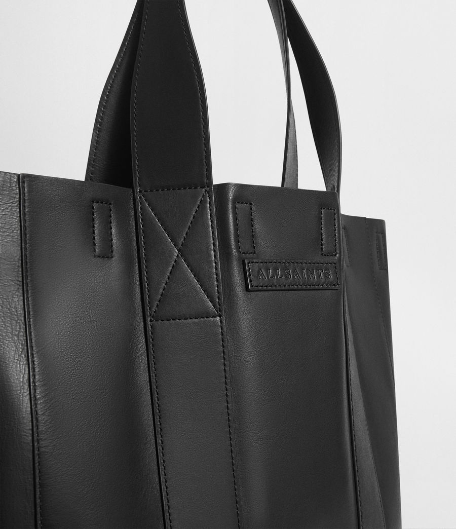 Mens Holt Leather Tote Bag (washed_black) - Image 7