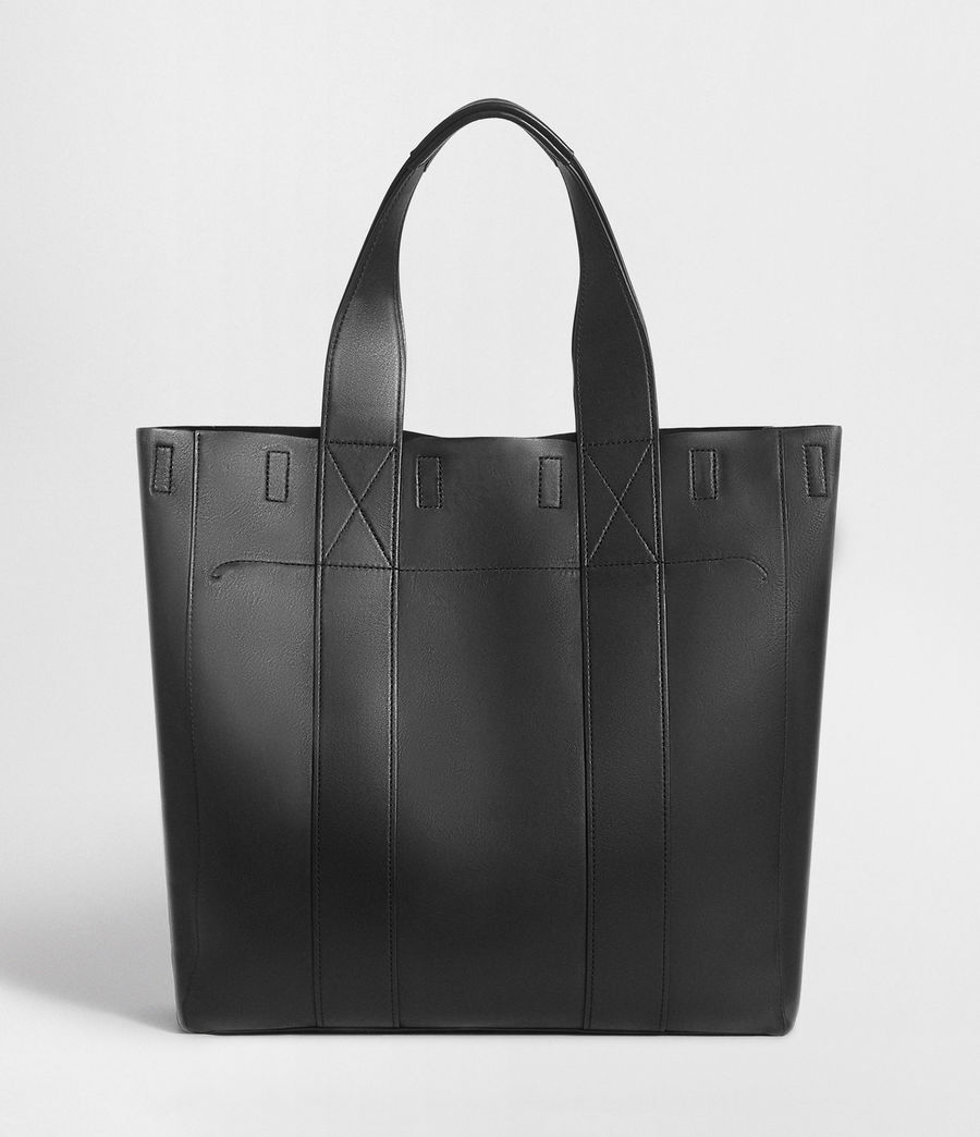 Mens Holt Leather Tote Bag (washed_black) - Image 8
