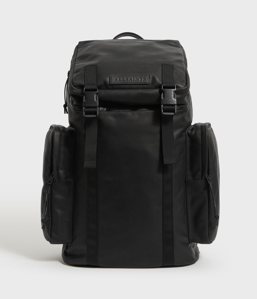 Mens Clermont Leather Rucksack (black) - Image 1