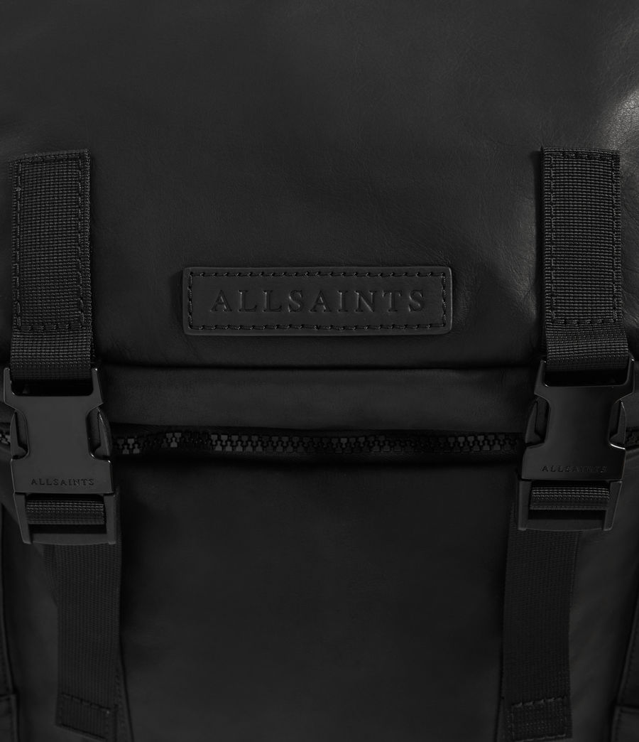 Mens Clermont Leather Rucksack (black) - Image 7