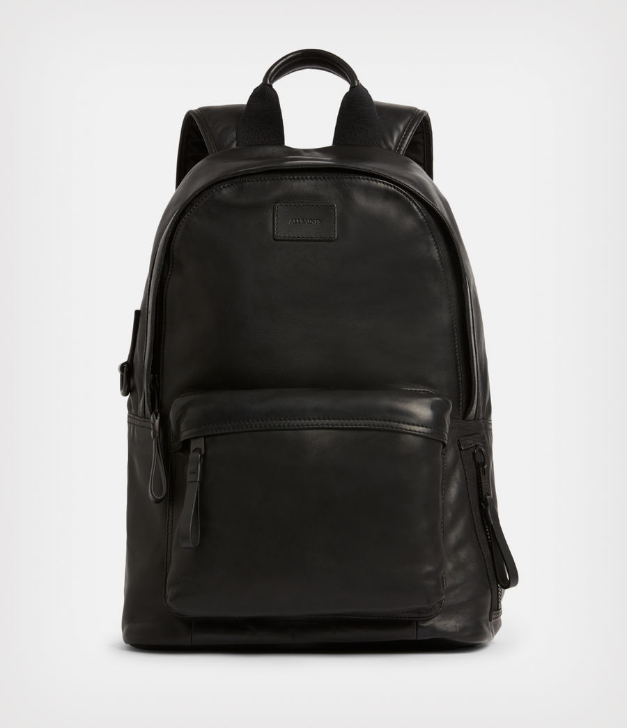 Mens Arena Leather Backpack (black) - Image 1