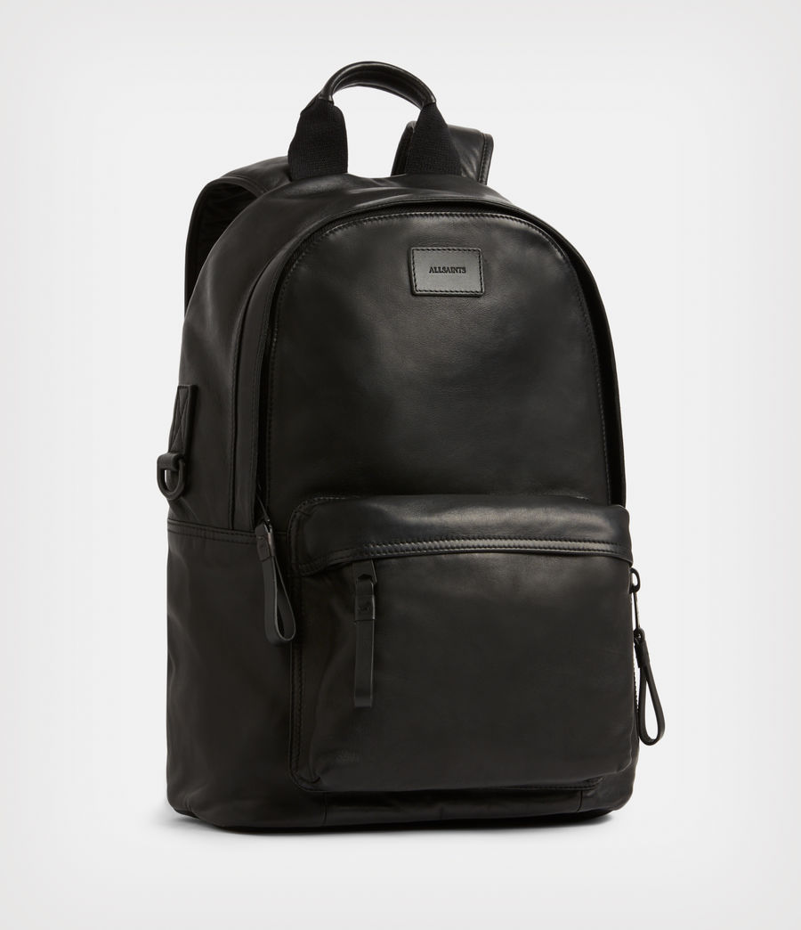 Mens Arena Leather Backpack (black) - Image 4