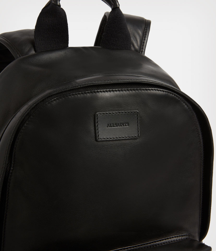 Mens Arena Leather Backpack (black) - Image 5