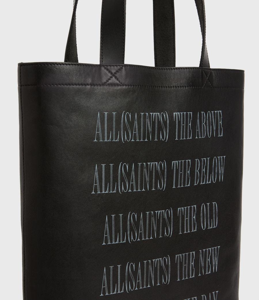 Men's Stamp Leather Tote Bag (black) - Image 6