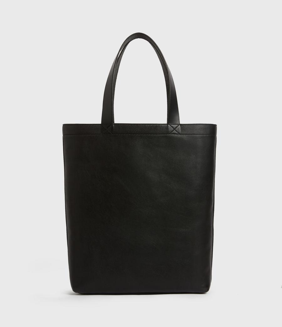 Men's Stamp Leather Tote Bag (black) - Image 7