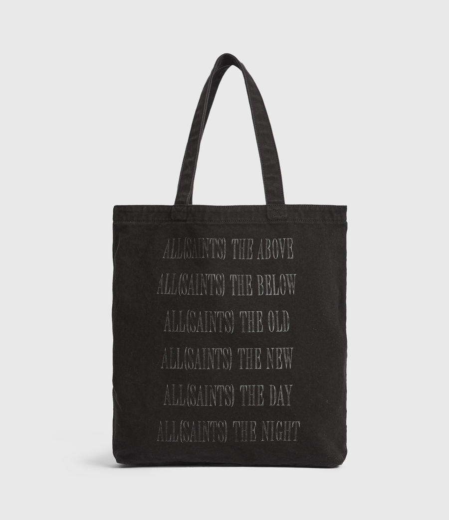 Men's Stamp Canvas Tote Bag (black) - Image 2