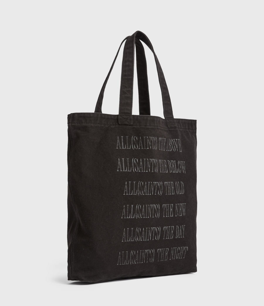 Men's Stamp Canvas Tote Bag (black) - Image 5