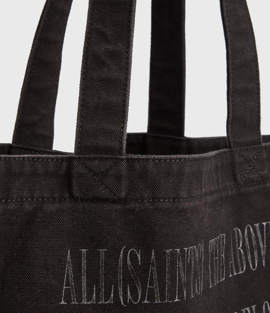 Men's Stamp Canvas Tote Bag (black) - Image 7