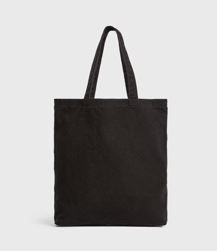 Men's Stamp Canvas Tote Bag (black) - Image 8