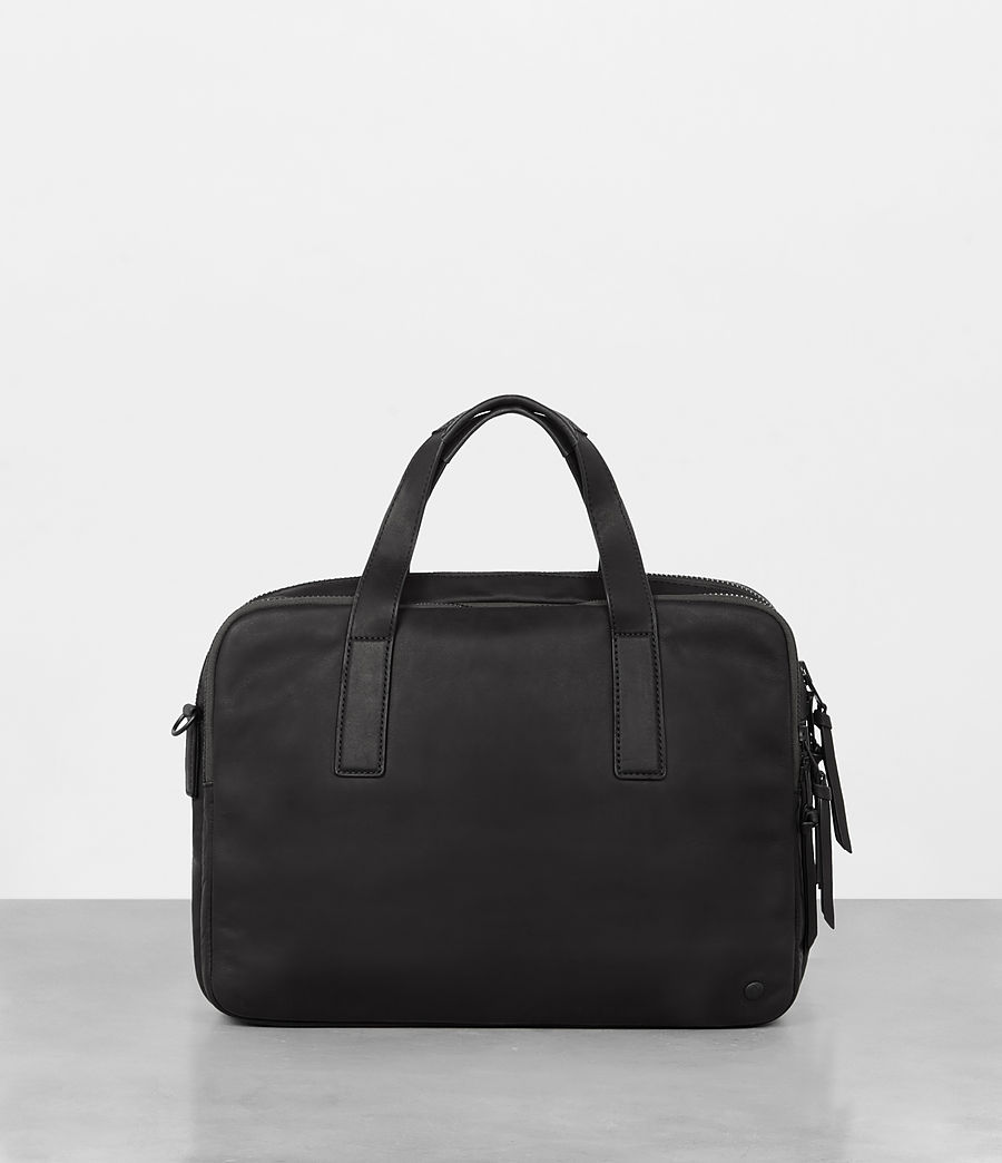 Mens Hayes Leather Workbag (black) - Image 1
