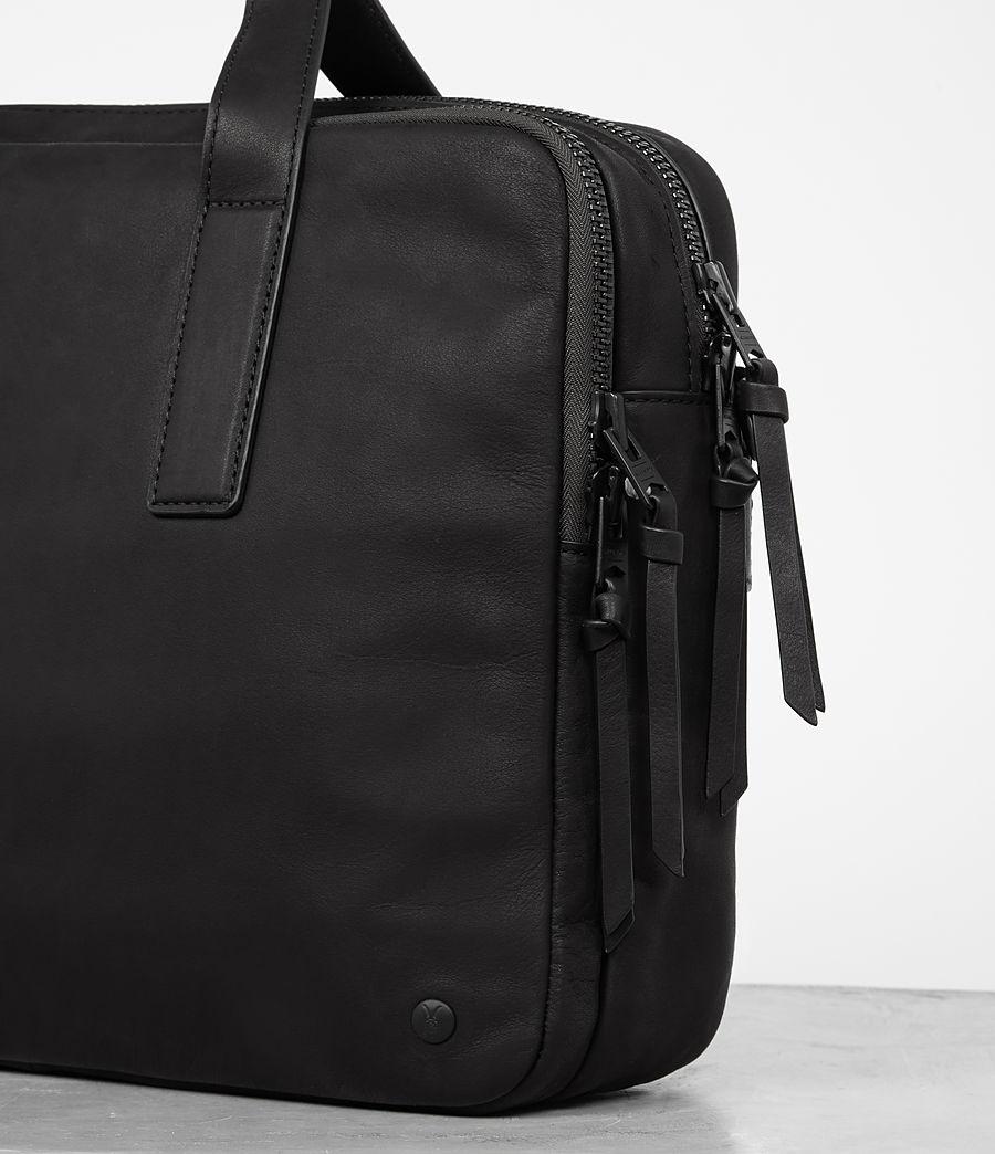 Mens Hayes Leather Workbag (black) - Image 2