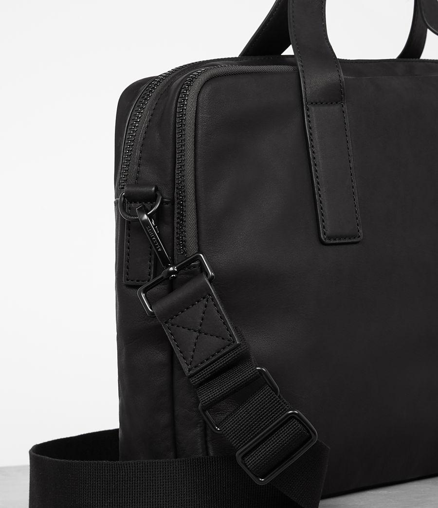 Mens Hayes Leather Workbag (black) - Image 3