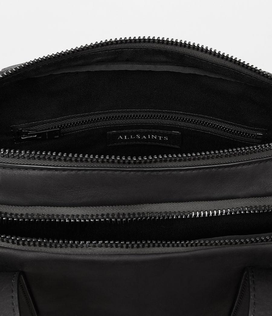 Mens Hayes Leather Workbag (black) - Image 4